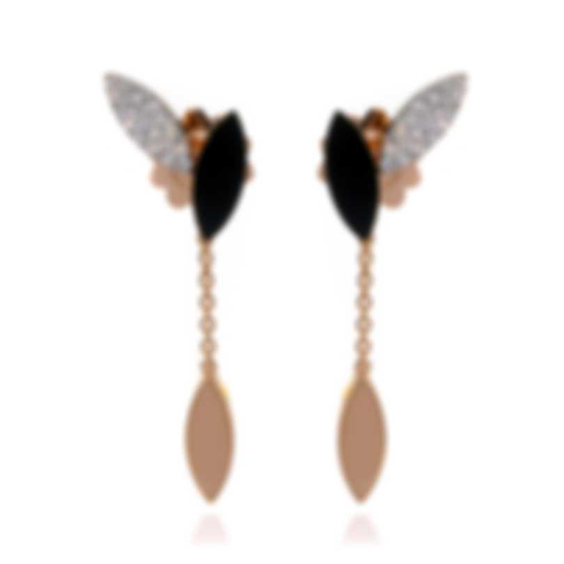 Roberto Coin Petals 18k Rose & White Gold Diamond & Jade Earrings 8882533AHERB