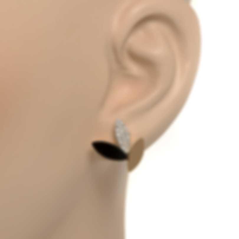 Roberto Coin Petals 18k Rose & White Gold Diamond & Jade Earrings 8882536aherb