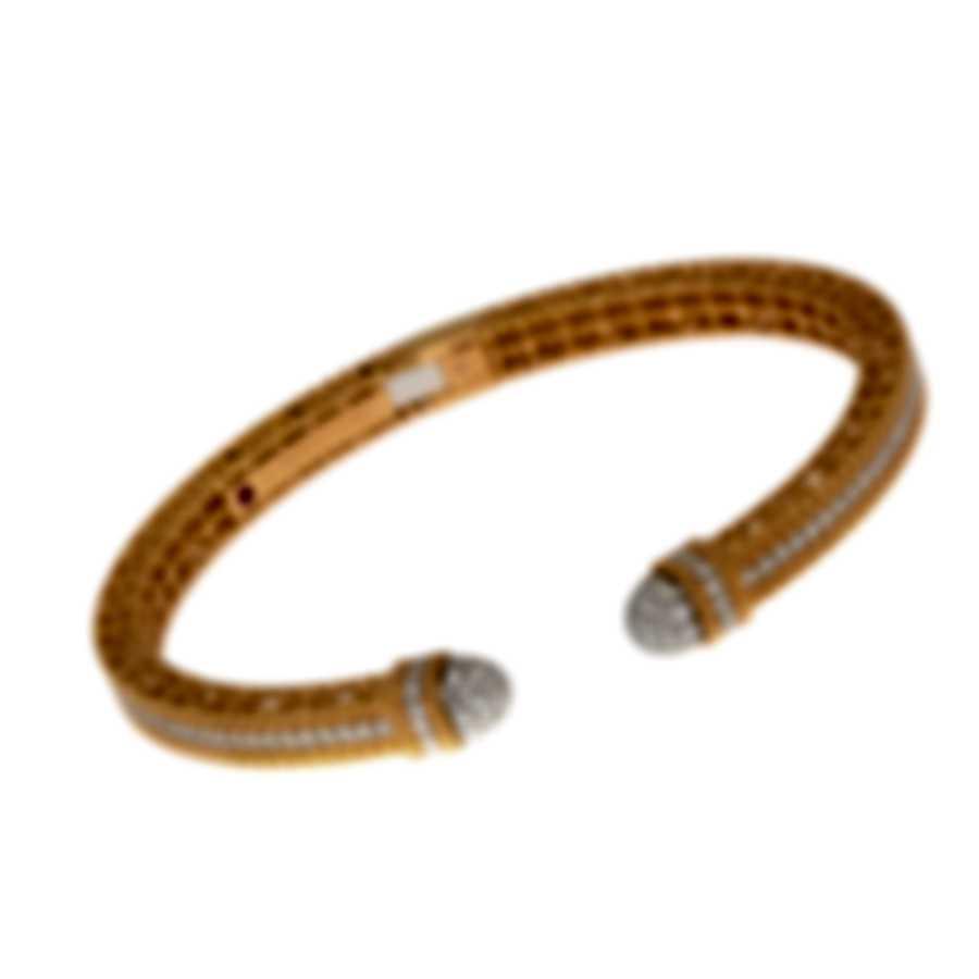 Roberto Coin Barocco 18k Rose & White Gold Diamond 1.40ct Bracelet 8882598AHBAX