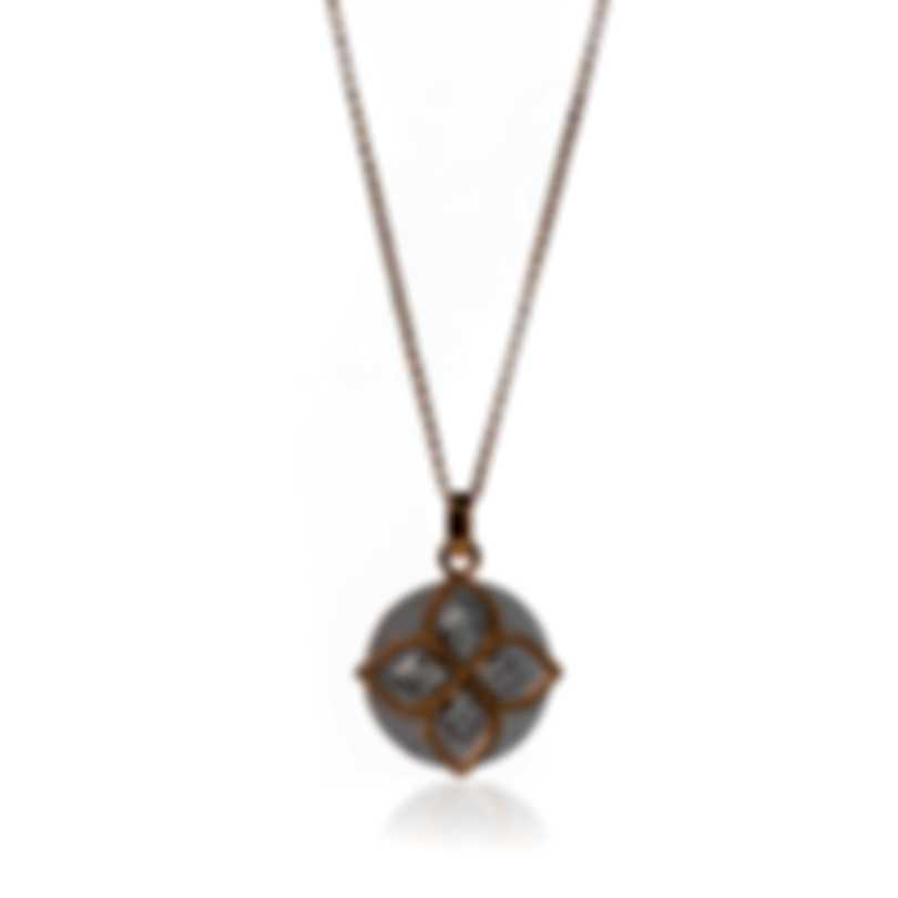 Roberto Coin Princess 18k Gold Diamond & Mother Of Pearl Necklace 8882786ahchx