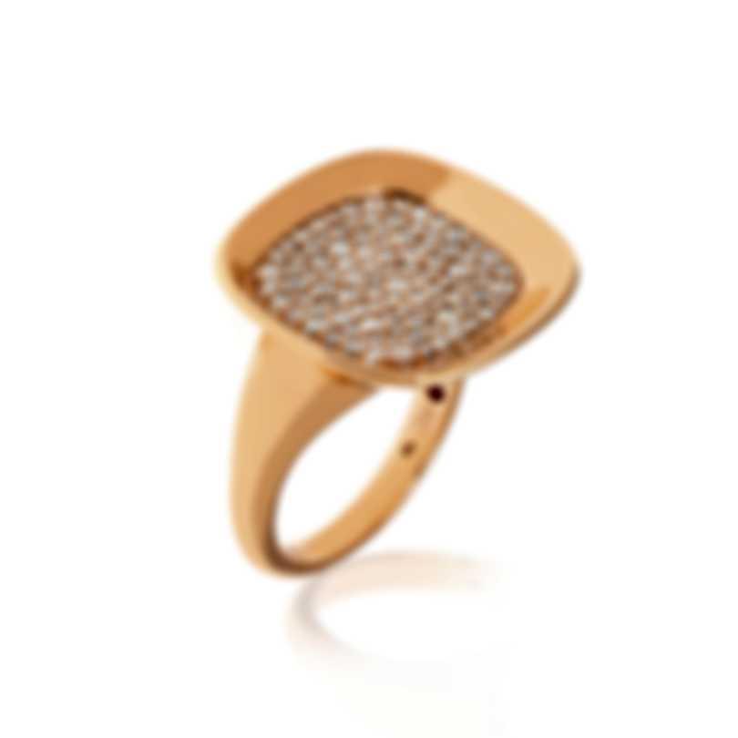 Roberto Coin Carnaby Street 18k Rose Gold Diamond 0.88ct Ring Sz6.5 8882191AX65X