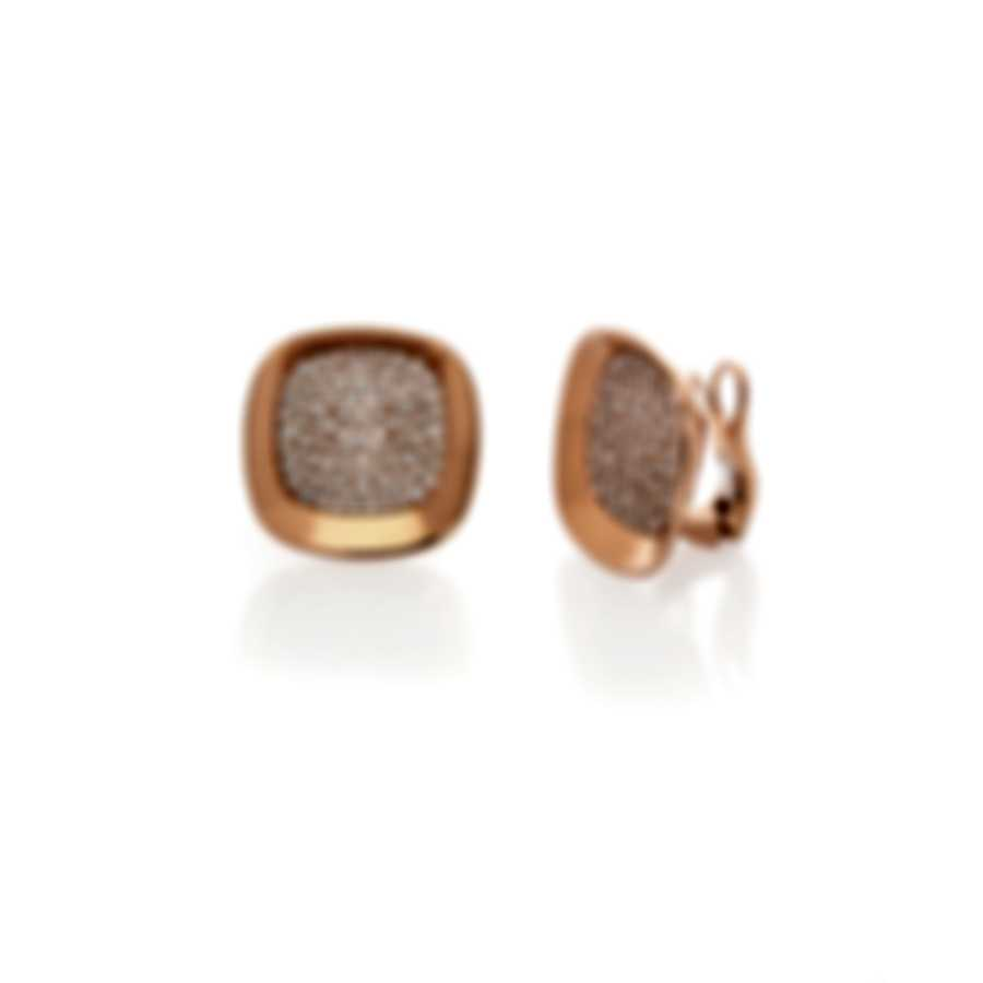 Roberto Coin Carnaby Street 18k Rose Gold Diamond 1.78ct Earrings 8882191AXERX