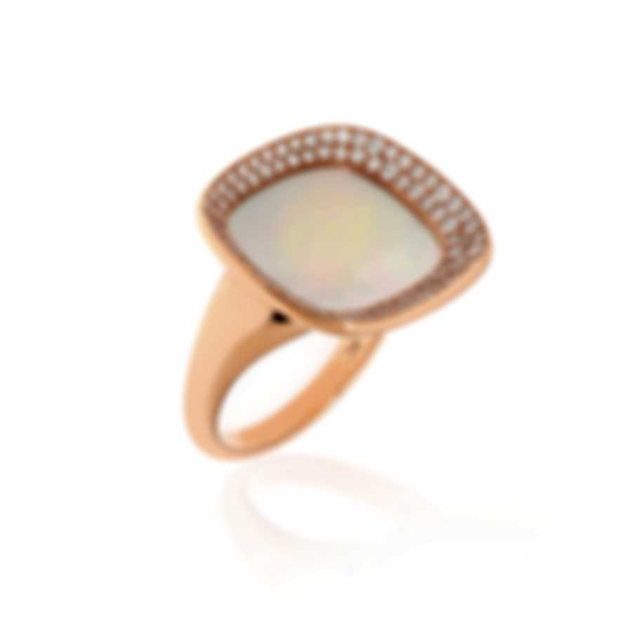 Roberto Coin Carnaby St Diamond 0.65ct Mother Of Pearl Ring Sz 6.5 8882197AX65X