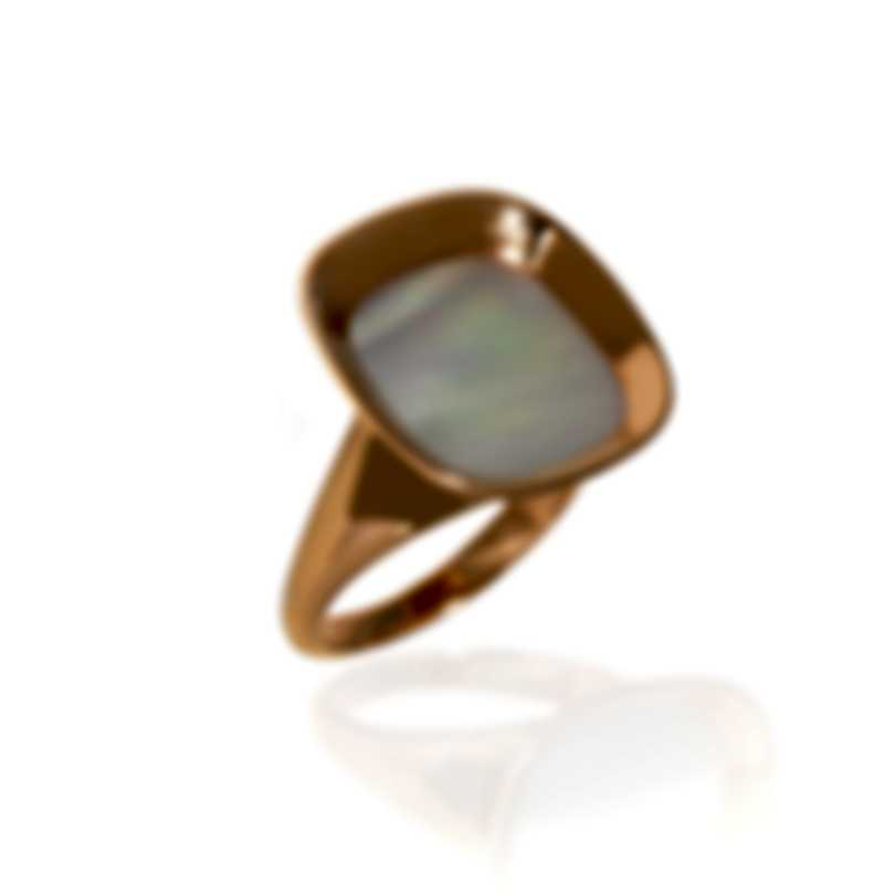 Roberto Coin Carnaby Street 18k Gold And Mother Of Pearl Ring Sz6.5 8882210AX65M