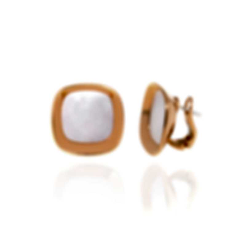 Roberto Coin Carnaby Street 18k Gold And Mother Of Pearl Earrings 8882210AXERM