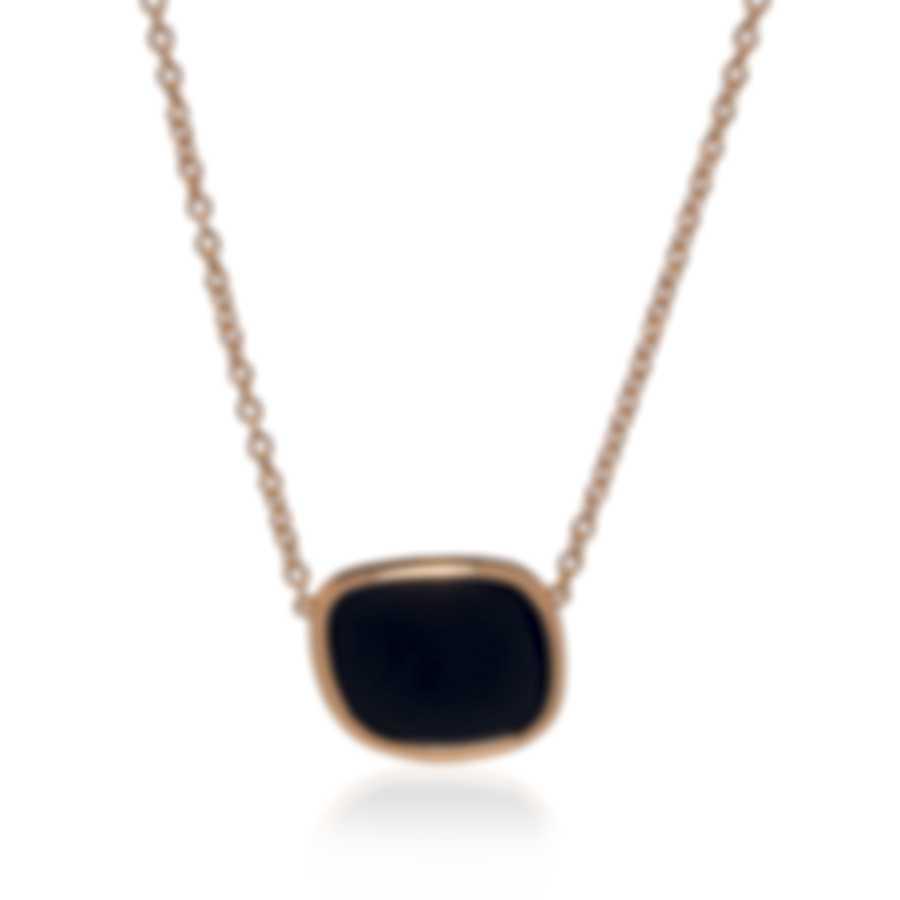 Roberto Coin Amphibole 18k Rose Gold And Black Jade Necklace 8882244AX17BJ