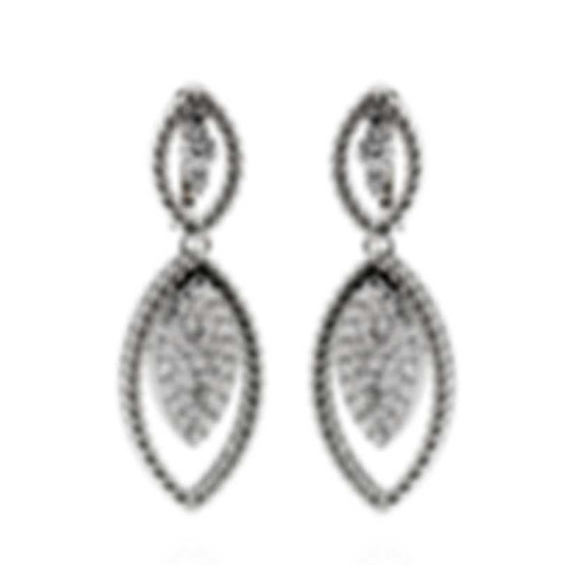 Roberto Coin Barocco 18k White Gold Diamond(0.99ct Twd.)Earrings 8882308AWERX