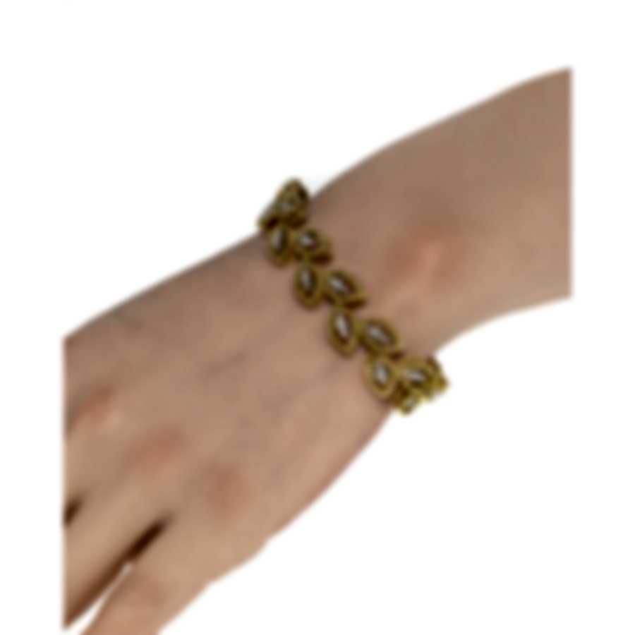 Roberto Coin Petals 18k Yellow Gold Diamond 3.33ct Bracelet 8882309AJLBX