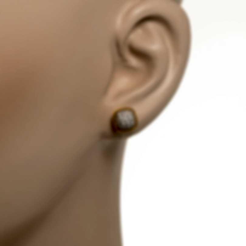 Roberto Coin Barocco 18k Rose & White Gold Diamond 1.02ct Earrings 8882312AXERX