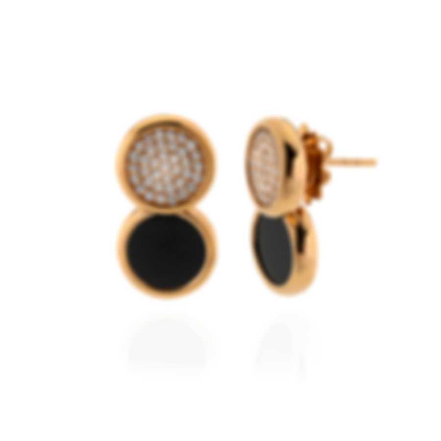 Roberto Coin 18k Rose Gold Diamond(0.58ct Twd.)and Jade Earrings 8882327AXERJ