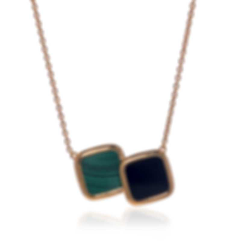 Roberto Coin 18k Rose Gold And Malachite Necklace 8882330AX18J