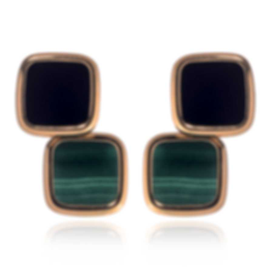Roberto Coin 18k Rose Gold And Malachite Earrings 8882330AXERJ