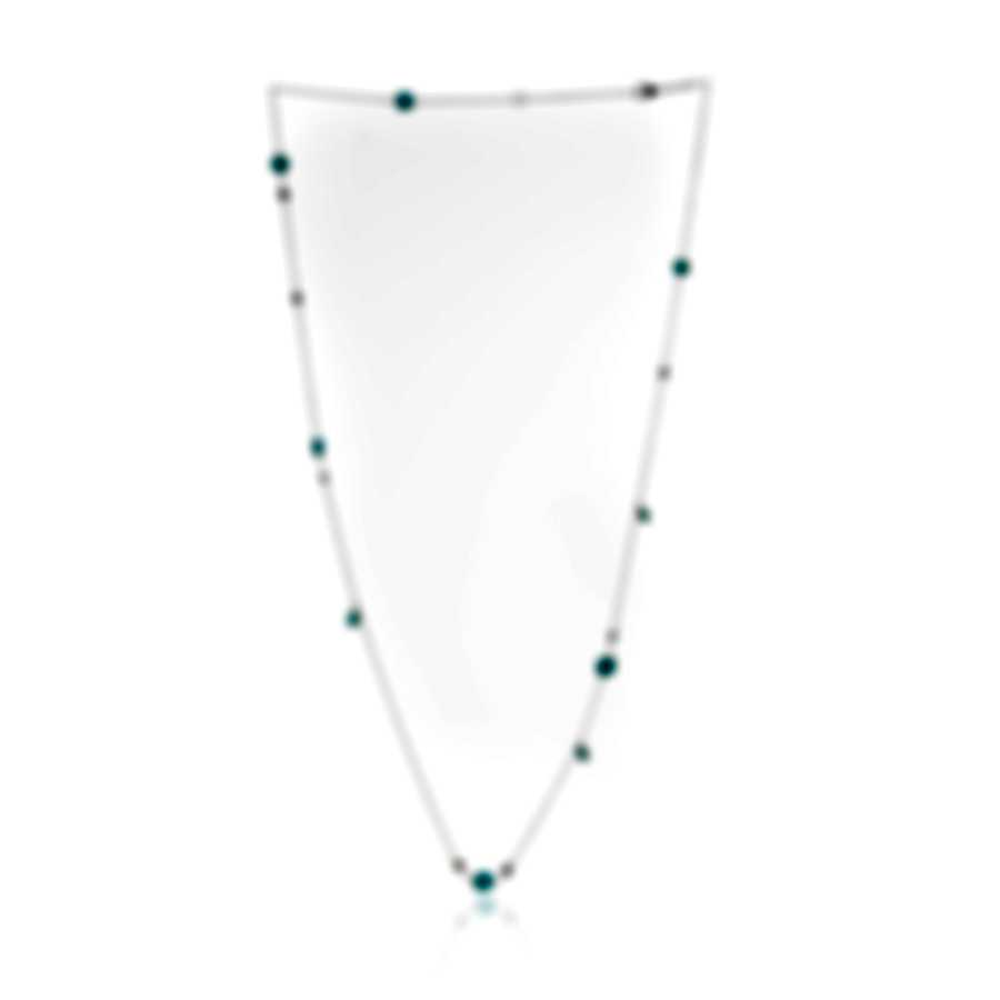 Roberto Coin 18k White Gold Diamond 0.74ct And Turquoise Necklace 8882377AW39JX