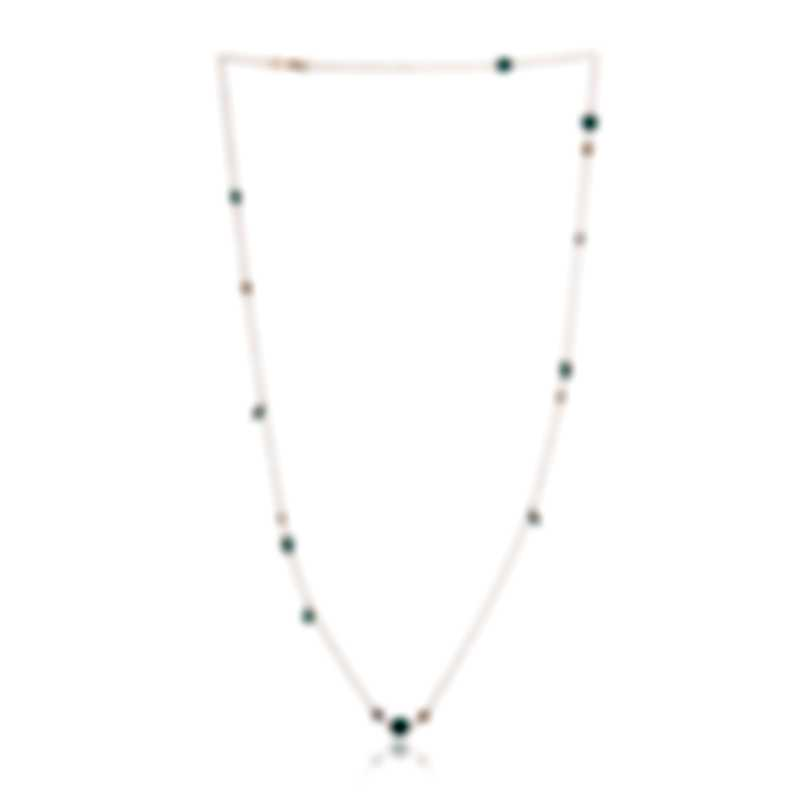 Roberto Coin 18k Rose Gold Diamond 0.74ct And Turquoise Necklace 8882377AX39X