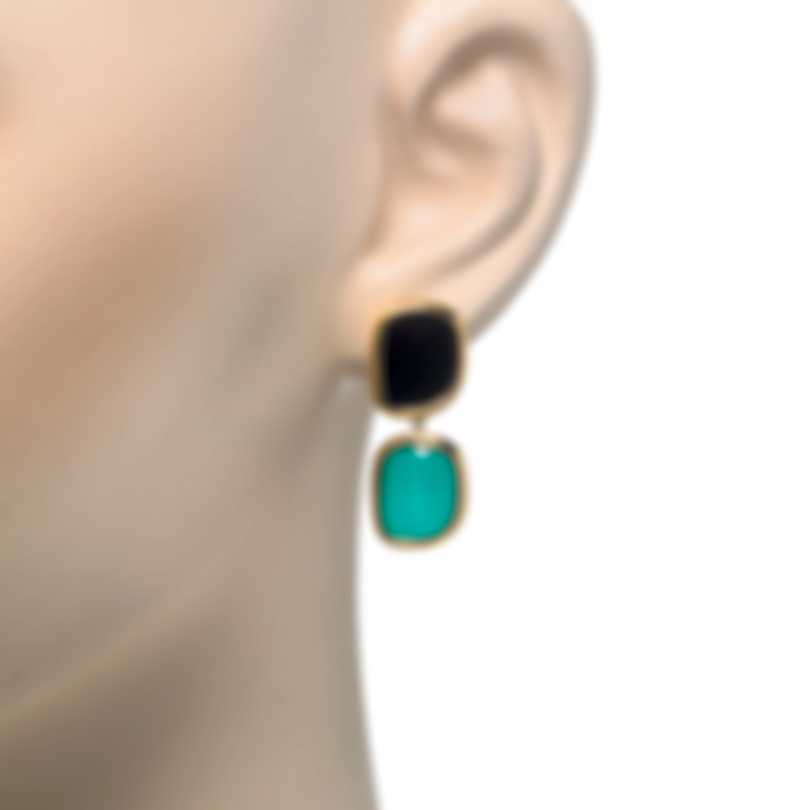 Roberto Coin 18k Rose Gold And Agate Earrings 888612AXERJX