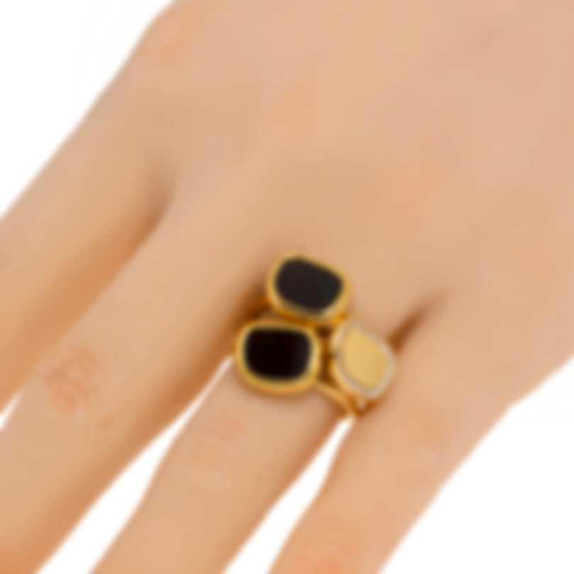 Roberto Coin 18k Rose Gold Diamond 0.14ct And Jade Ring Sz 6.5 888616AX65JX