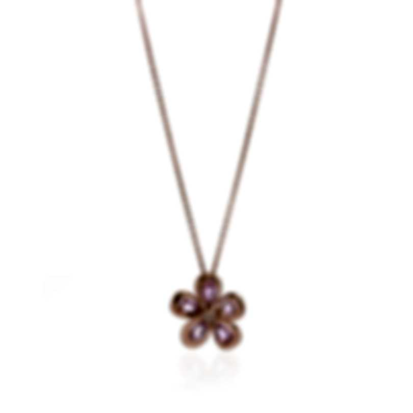 Roberto Coin 18k Rose Gold Diamond 0.07ct And Sapphire Necklace 9991018AX18JX