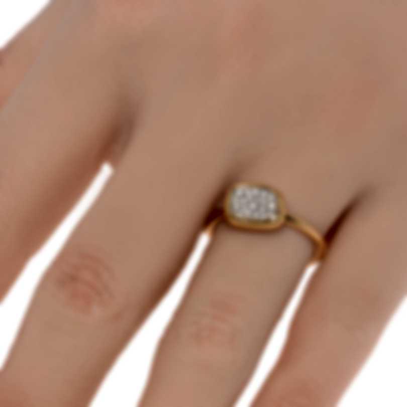 Roberto Coin 18k Rose Gold Diamond 0.17ct Ring Sz 6.5 9991032AX65X