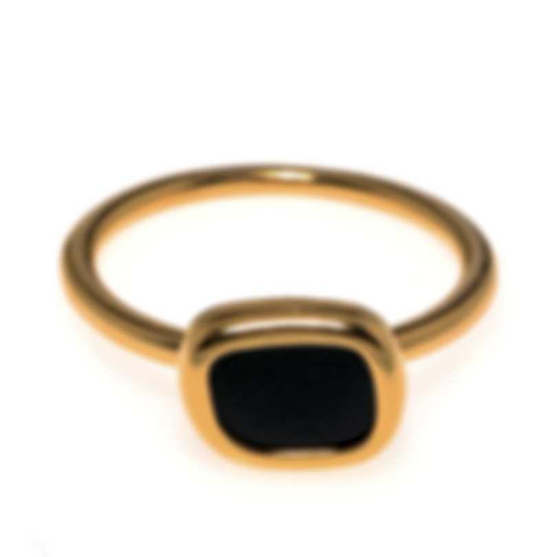 Roberto Coin 18k Rose Gold And Black Jade Ring Sz 6.5 9991033AX65B