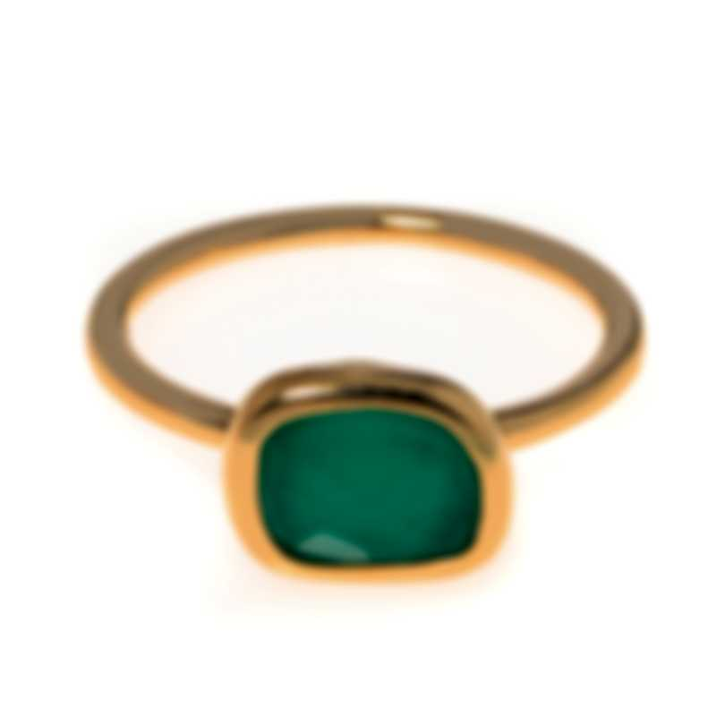 Roberto Coin 18k Rose Gold And Agate Ring Sz 6.5 9991034AX65G