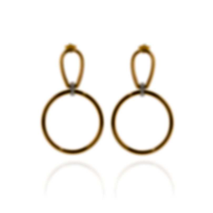 Roberto Coin Classica Parisienne Gold Diamond(0.1ct Twd)Earrings 9151193AJERX