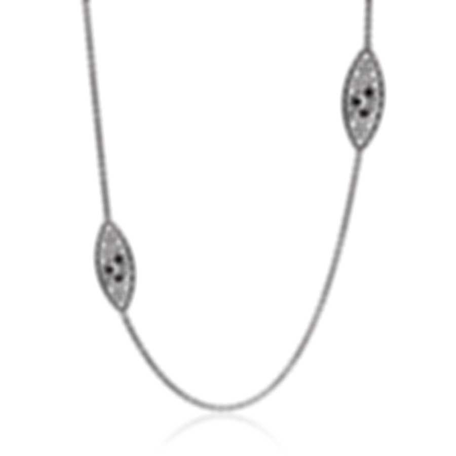 Roberto Coin Bollicine 18k White Gold Diamond Necklace 915361AW37X0