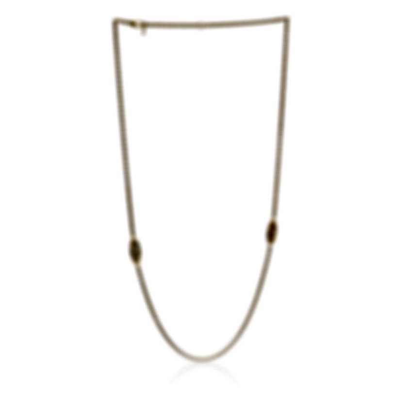 Roberto Coin Bollicine 18k Yellow Gold And Enamel Necklace 915374AY37N4