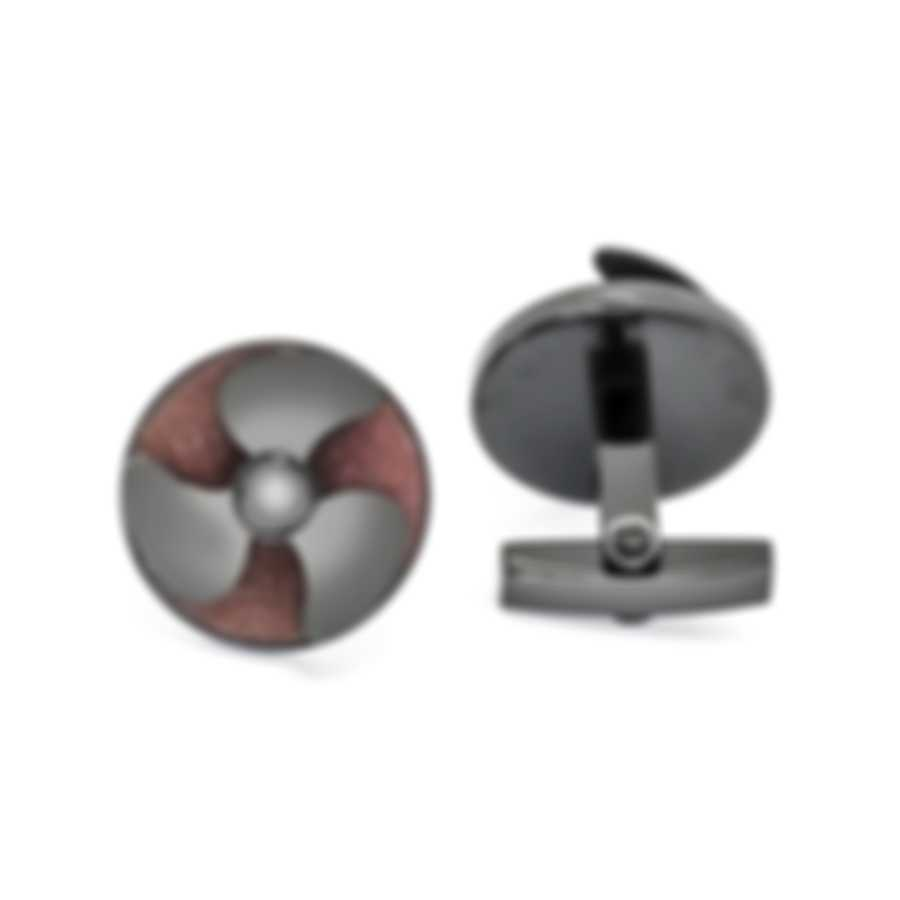 Romain Jerome Black And Brown Stainless Steel Cufflinks RJ.T.HE.001.01