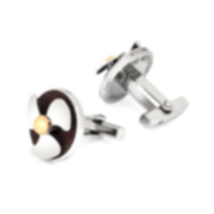 Romain Jerome Silver Rose Gold Stainless Steel Cufflinks RJ.T.HE.002.02