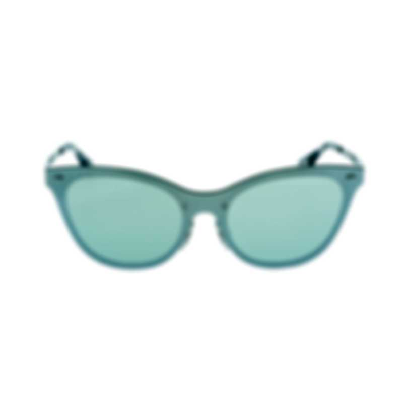Ray-Ban Silver And Green Women's Metal Sunglasses RB3580N-04230