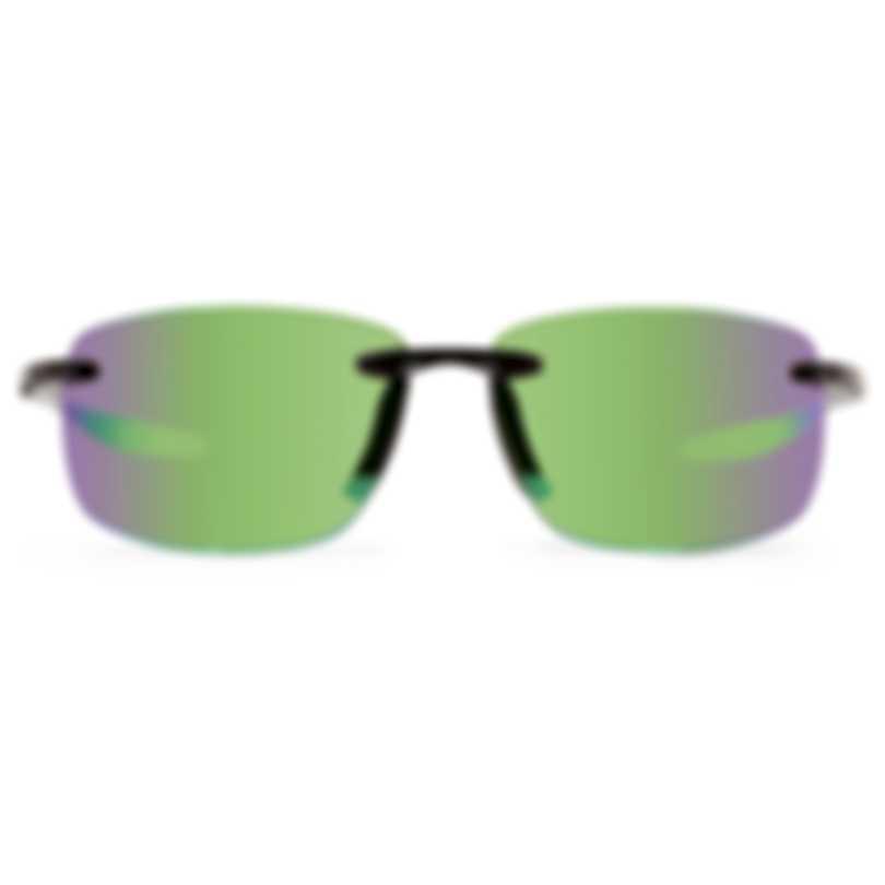Revo Performance Descend N Black Evergreen Rectangle Large Sunglasses RE405901GN