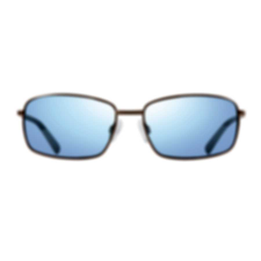Revo Lifestyle Tate Gunmetal & Blue Water Rectangle Sunglasses RE107900BL