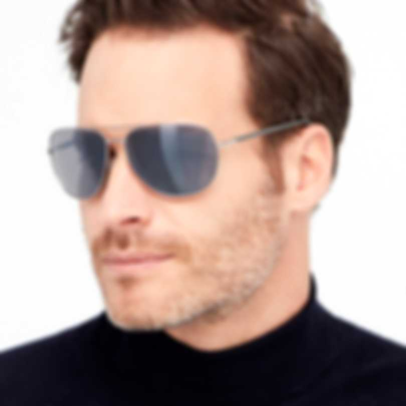 Revo Lifestyle Tarquin Chrome & Blue Water Aviator-style Sunglasses RE108303BL