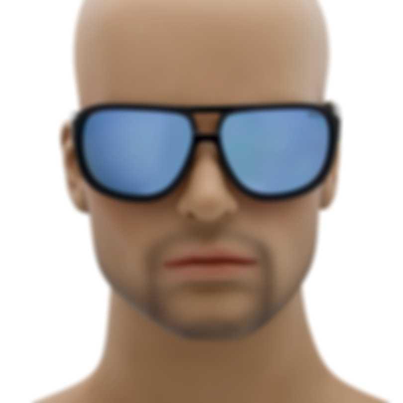 Revo Lifestyle Hank Black & Blue Water Aviator-style Sunglasses RE114501BL