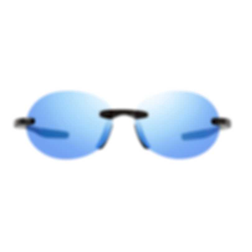 Revo Performance Descend O Black & Blue Water Round/Oval Sunglasses RE116801BL