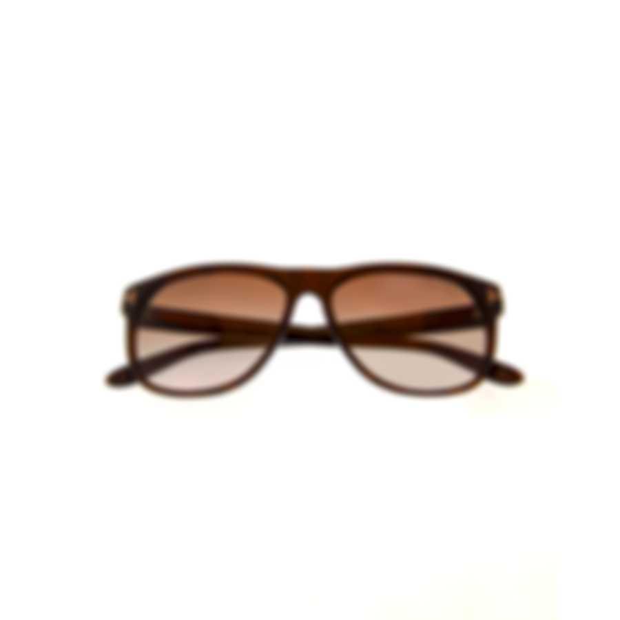 Tom Ford Dark Brown & Brown Gradient Sunglasses FT0236-5850P