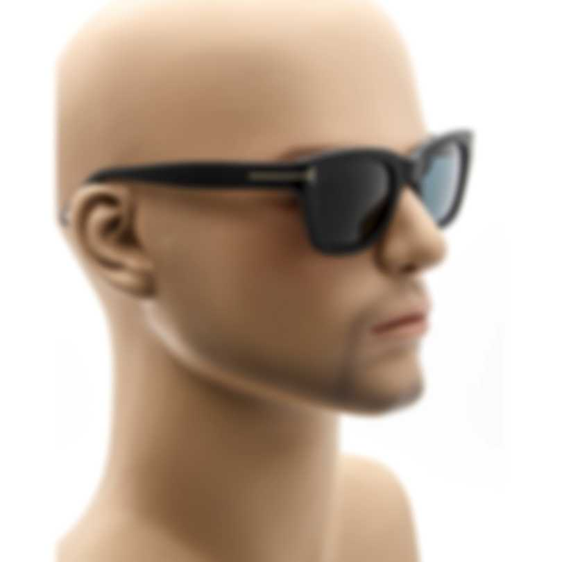Tom Ford Matte Black & Blue Sunglasses FT0237-5005V