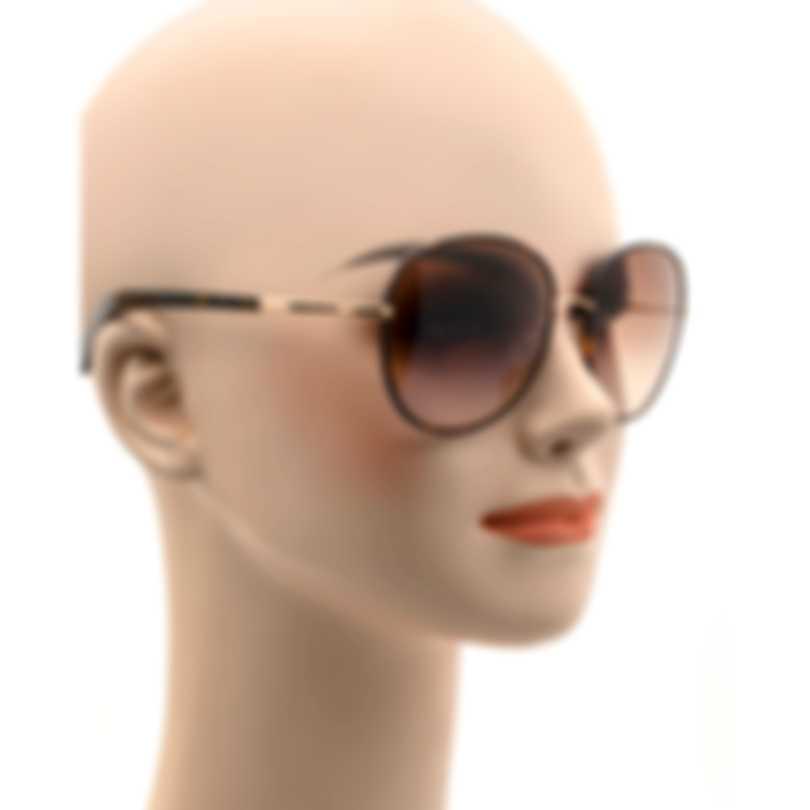 Tom Ford Dark Havana & Brown Oversized Sunglasses FT0498-5952F