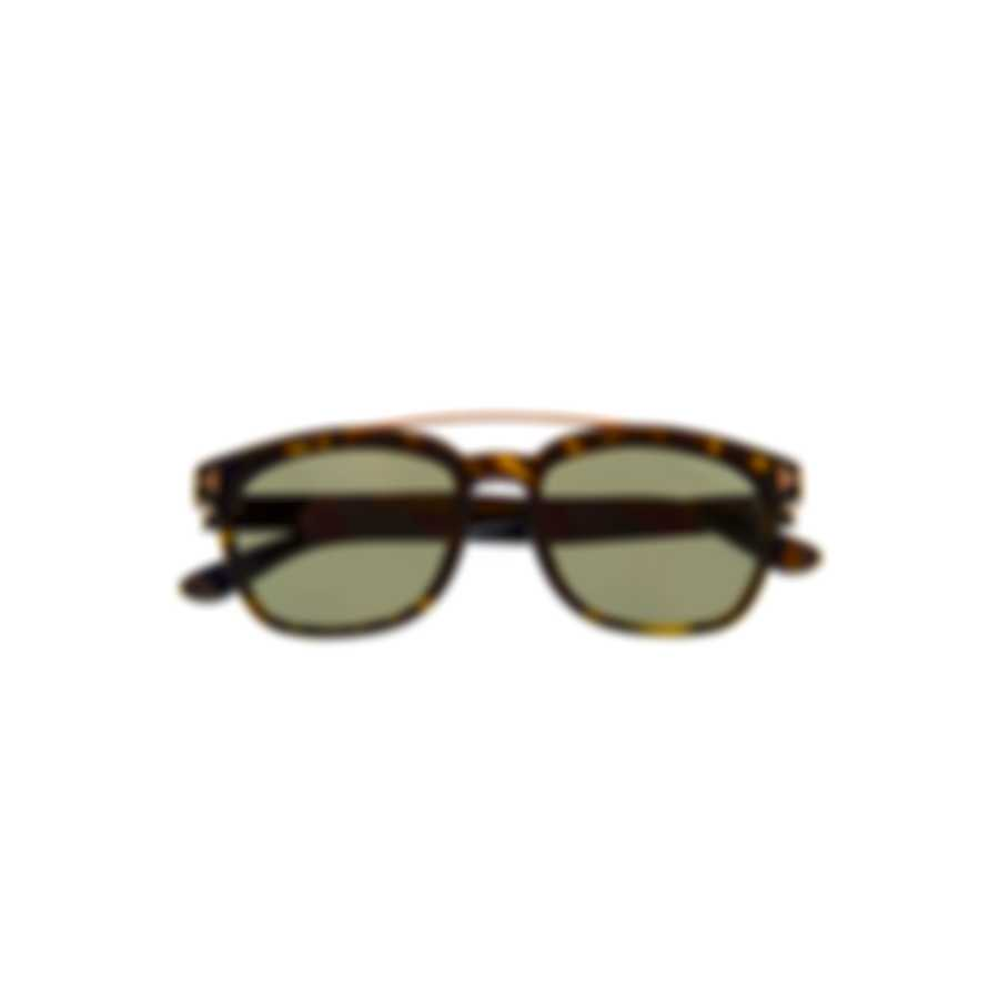 Tom Ford Dark Havana & Green Sunglasses FT0516-5452R