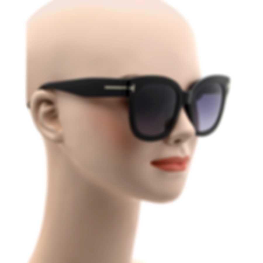 Tom Ford Shiny Black & Smoke Oversized Sunglasses FT0613-F-5201C