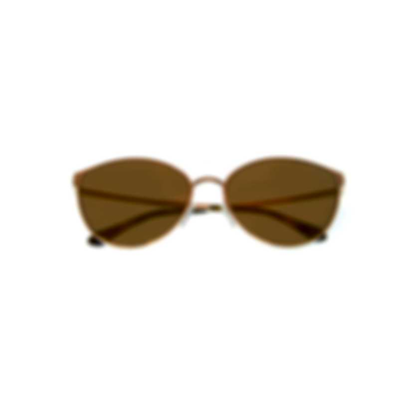 Tom Ford Shiny Rose Gold & Brown Cateye Sunglasses FT0654-6028G