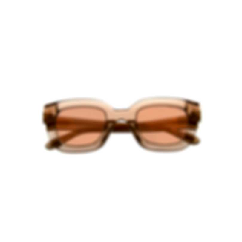 Tom Ford Shiny Light Brown & Brown Square Sunglasses FT0659-4845G