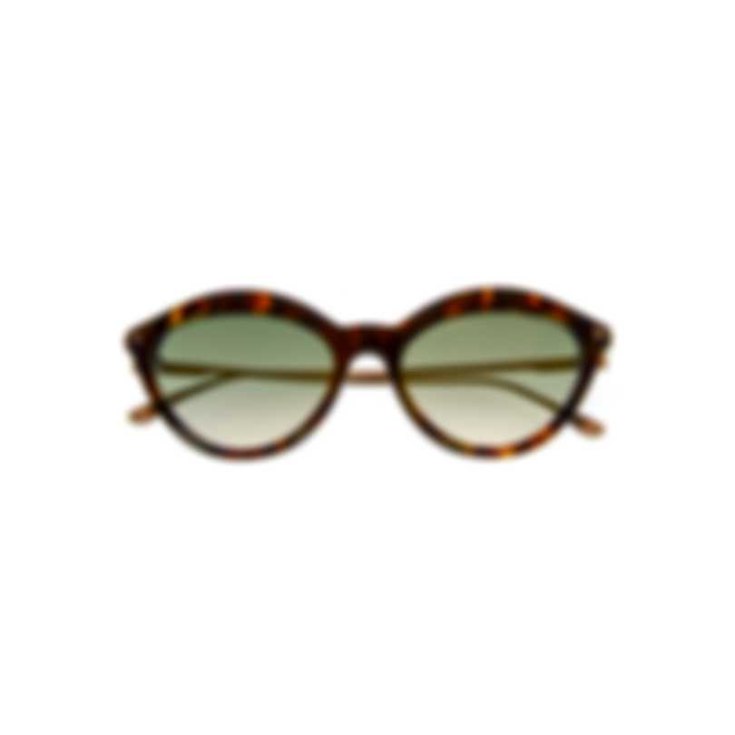 Tom Ford Dark Havana & Green Cateye Sunglasses FT0663-5755P