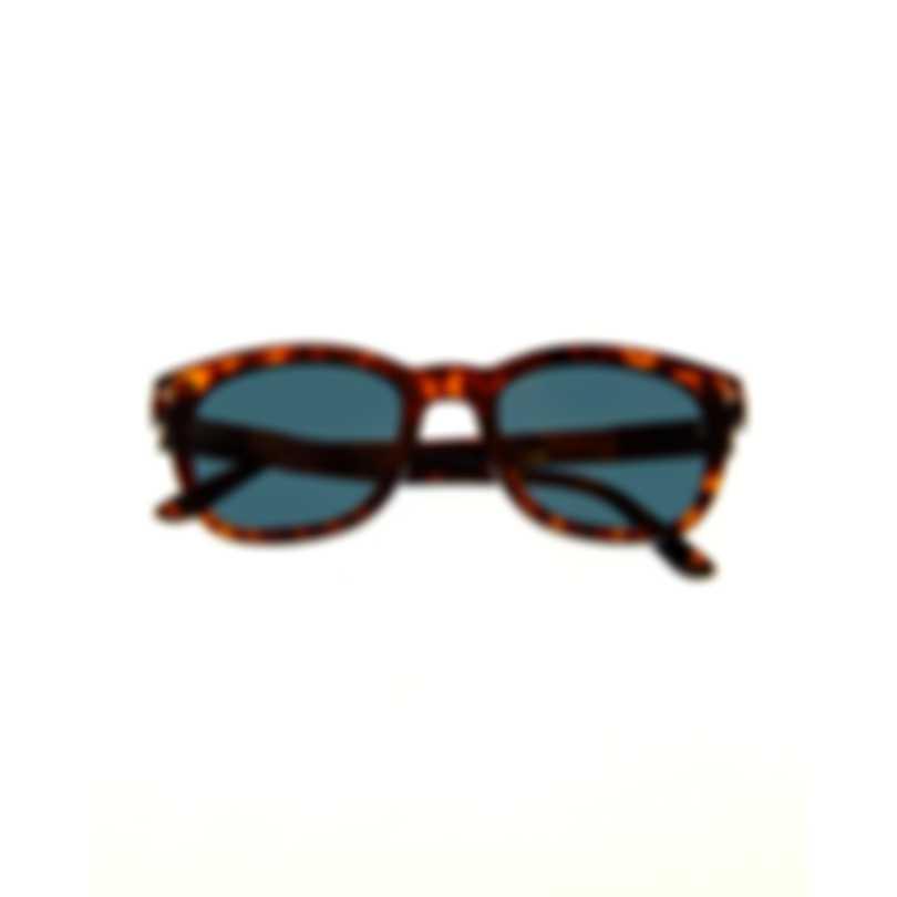 Tom Ford Red Havana & Green Wayfarer Style Sunglasses FT0676-5254N