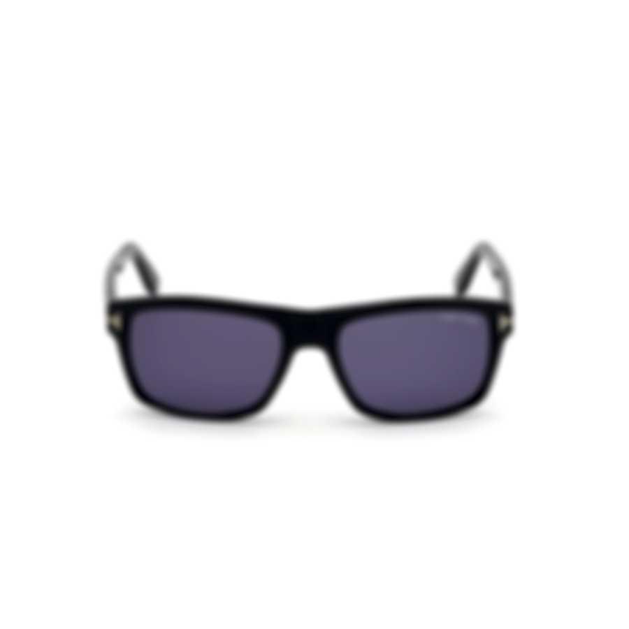 Tom Ford Shiny Black & Blue Geometric Sunglasses FT0678-5801V