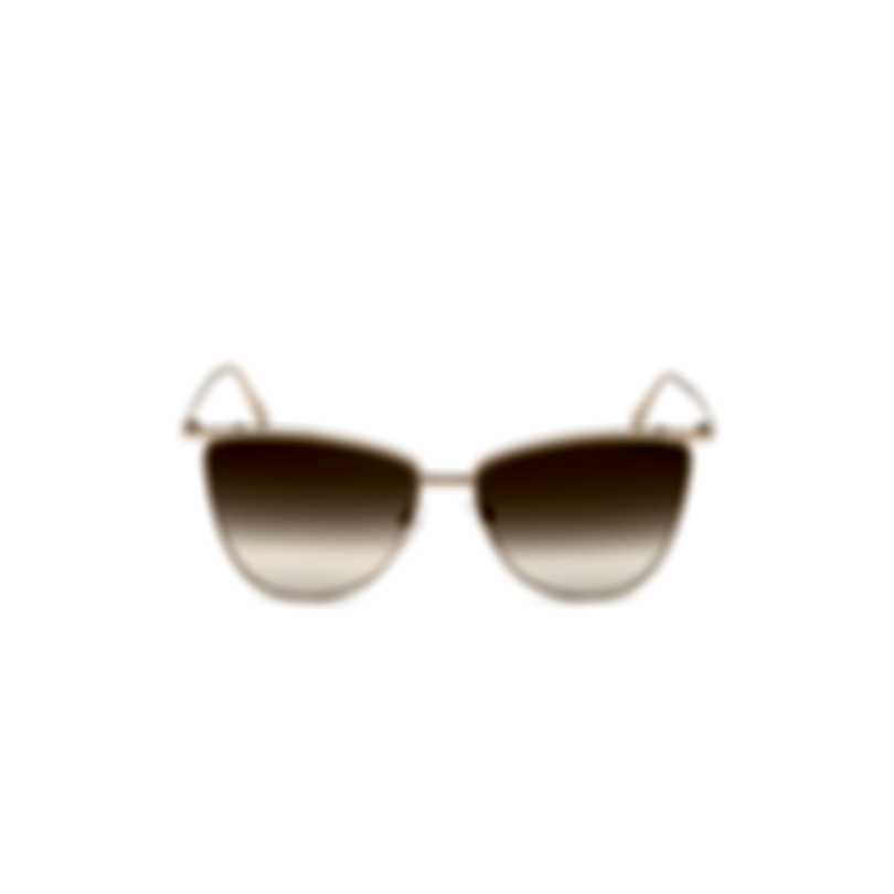Tom Ford Shiny Rose Gold & Brown Mirror Butterfly Sunglasses FT0684-5828G
