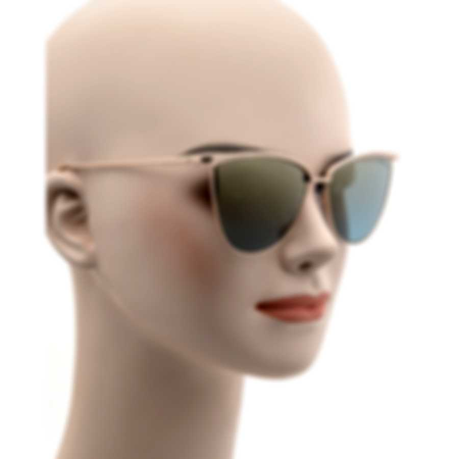 Tom Ford Shiny Rose Gold & Blue Cateye Sunglasses FT0684-5828W