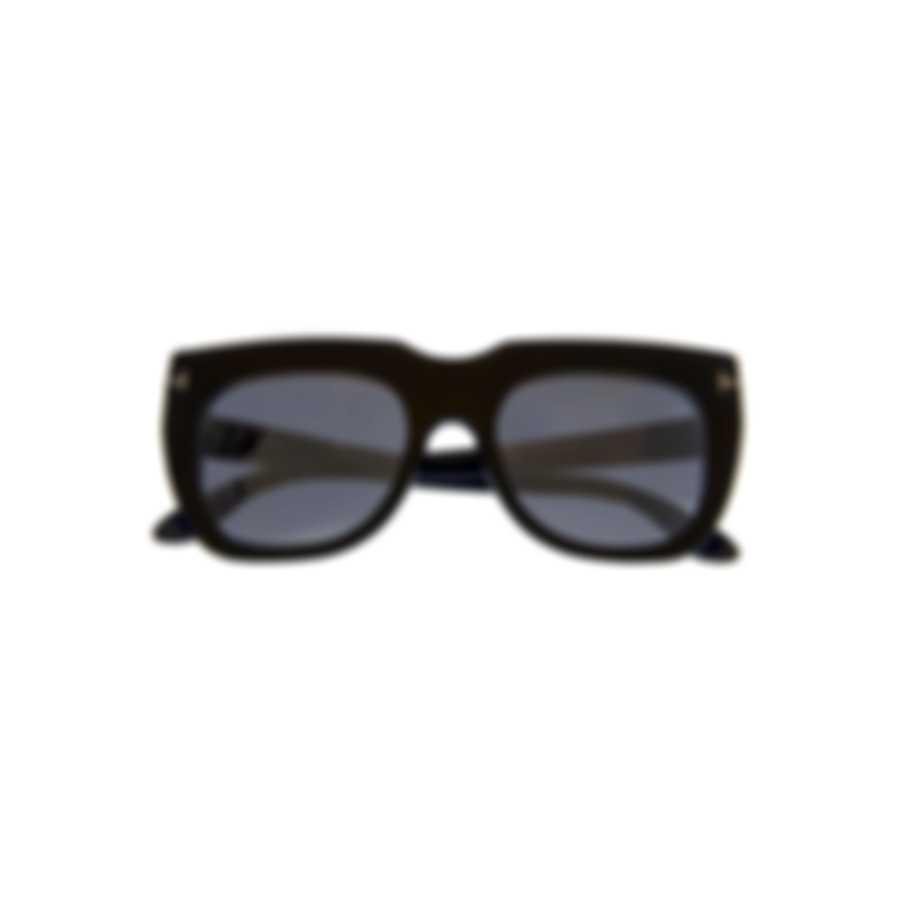 Tom Ford Shiny Black & Smoke Mirror Geometric Sunglasses FT0687-5101C