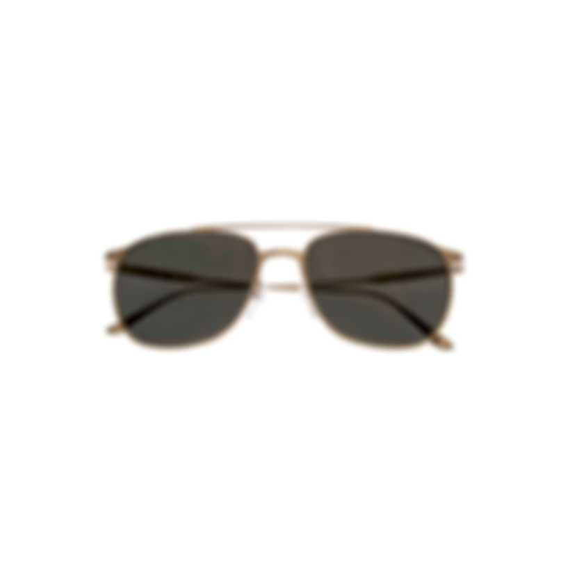 Tom Ford Shiny Rose Gold & Smoke Aviator Style Sunglasses FT0692-5828A