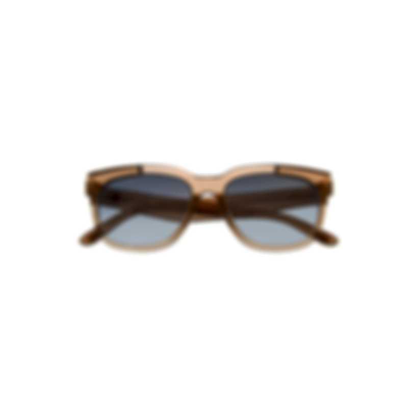 Tom Ford Shiny Light Brown & Blue Wayfarer Style Sunglasses FT0714-5545Q
